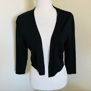 WHBM cropped open front cardigan shrug